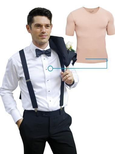 Hochzeitsunterhemd unsichtbar in Hautfarbe