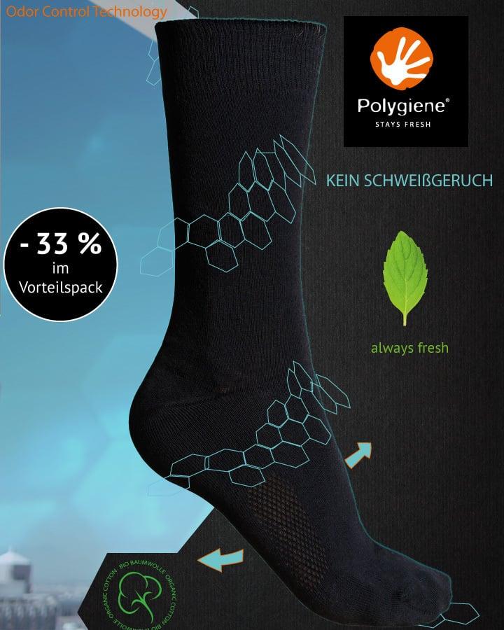 ANTIBAKERIELLE -geruchsneutrale- Socken